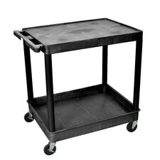 "<strong>Luxor</strong> 36"" 2 Shelf Utility Cart"