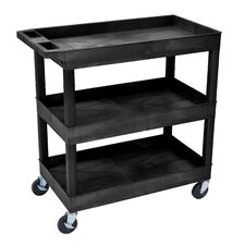 "<strong>Luxor</strong> E Series 36"" 3 Tub Utility Cart"