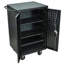 24-Compartment Laptop Tablet Charging Cart