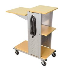 Mobile Presentation Station with Casters and Electric