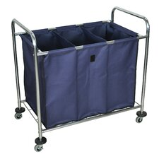 <strong>Luxor</strong> Industrial 3 Bin Laundry Cart
