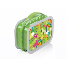 Deluxe Lunchbox with Peace Design in Green