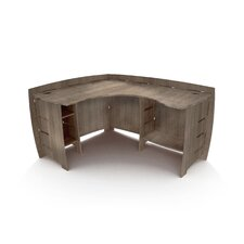 "Driftwood 60"" Corner Executive Desk"