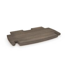 "Driftwood 0.5"" H x 12"" W Desk Spare Shelf"