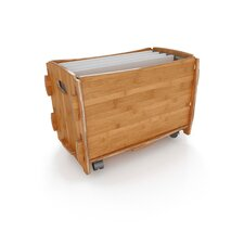 Sustainable Bamboo File Cart