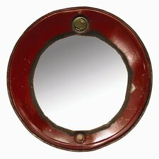 "Moonshine 23"" H x 23"" W Steam Punk Barrel Mirror"