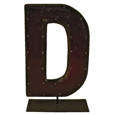 Moonshine Metal Letters D on a Stand Letter Block