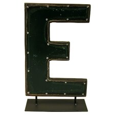 Moonshine Metal Letters E on a Stand Letter Block