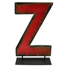 Moonshine Metal Letters Z on a Stand Letter Block