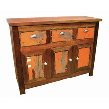 Moonshine Coda Cabinet with Metal Accent