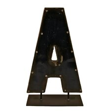 Moonshine Metal Letters A on a Stand Letter Block
