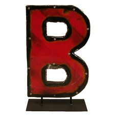 Moonshine Metal Letters B on a Stand Letter Block