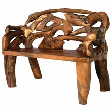 Badland Root Teak Garden Bench