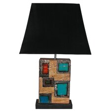 "Chris Bruning Nouveau Block 18"" H Table Lamp with Empire Shade"