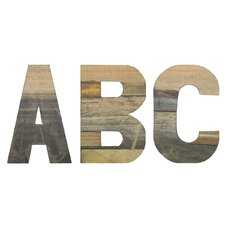 Chris Bruning Sahara ABC Lettering Wall Décor