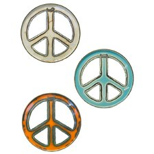 Chris Bruning Groovy Art Peace Signs Wall Décor
