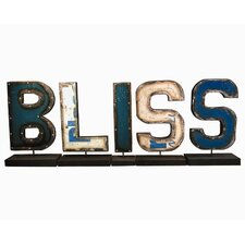 "Moonshine ""BLISS"" Letters on a Stand Figurine"