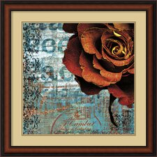 <strong>Amanti Art</strong> Graffiti Rose Framed Print By Christina Lazar Schuler