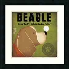 Beagle Golf Ball Co. Framed Print By Stephen Fowler
