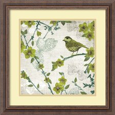 'Birds and Butterflies II' by Tandi Venter Framed Graphic Art