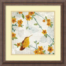'Birds and Butterflies III' by Tandi Venter Framed Graphic Art