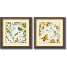 <strong>Amanti Art</strong> Birds and Butterflies 2 Piece Framed Print Set By Tandi Venter