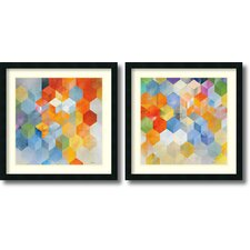 'Cubitz' by Noah 2 Piece Framed Graphic Art Set