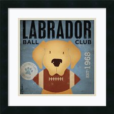 Labrador Ball Club Framed Print By Stephen Fowler