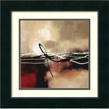 'Symphony in Red and Khaki II' by Laurie Maitland Framed Painting Print