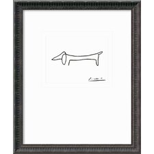 'Le Chien (The Dog)' by Pablo Picasso Framed Graphic Art