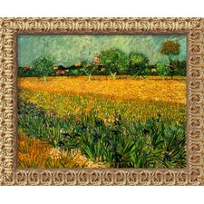 'View of Arles with Irises' by Vincent Van Gogh Framed Painting Print