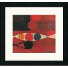 'Small Red Seed No. 6' by Bill Mead Framed Painting Print