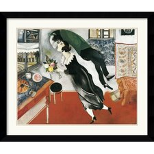 'Birthday' by Marc Chagall Framed Painting Print