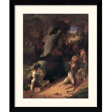 'The March of Silenus' by William Beard Framed Painting Print