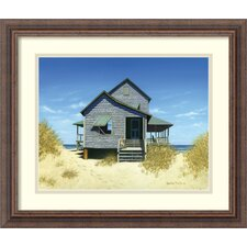 'Oceanfront Bungalow' by Daniel Pollera Framed Painting Print