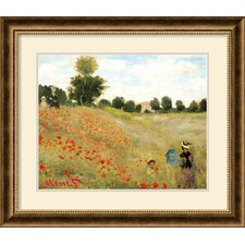 'Poppies at Argenteuil, 1873' by Claude Monet Framed Painting Print