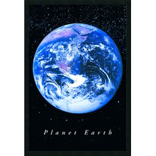 Planet Earth Framed Graphic Art