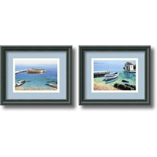 'Peaceful Morning' by Frane Mlinar 2 Piece Framed Painting Print Set