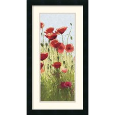 'Mountain Poppies I' by Shirley Novak Framed Painting Print