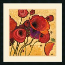 'Poppies Wildly II' by Shirley Novak Framed Painting Print