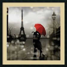 'Paris Romance' by Kate Carrigan Framed Art Print