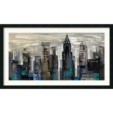 'New York Moment' by Silvia Vassileva Framed Painting Print