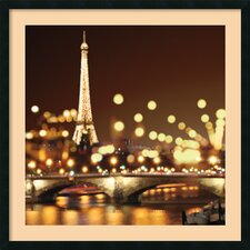 'City Lights-Paris' by Kate Carrigan Framed Art Print