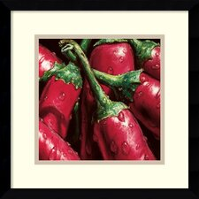 'Hot Peppers' by Alma'Ch Framed Photographic Print