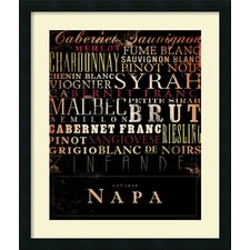 'Napa Type' by Stephen Fowler Framed Art Print