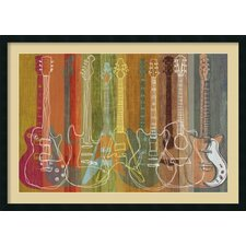 'Guitar Heritage' by M.J. Lew Framed Art Print