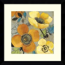 'Yellow and Orange Poppies I' by Allison Pearce Framed Painting Print
