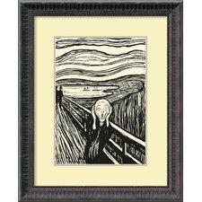 'The Scream (serigraph)' by Edvard Munch Framed Art Print