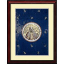 'Prophet - Detail of Ceiling C.1305-13' by Giotto di Bondone Framed Art Print