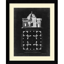 'Graphic Building & Plan III' by James Gibbs Framed Art Print